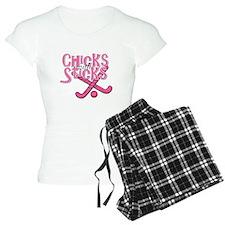 Field Hockey Chicks with Stic Pajamas