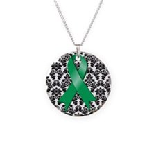 Damask Emerald Green Necklace