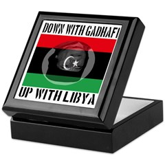 Down With Gadhafi Up With Libya Keepsake Box