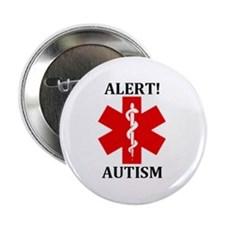 "Autism Medical Alert 2.25"" Button (100 pack)"