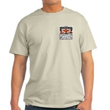 MUSCLEHEDZ Crest - Ash Grey T-Shirt