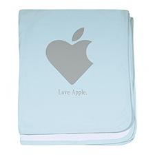 Love Apple baby blanket