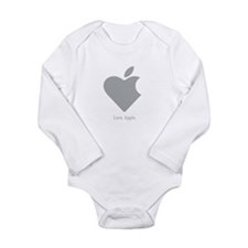 Love Apple Long Sleeve Infant Bodysuit
