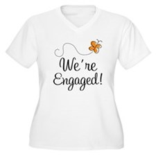 Orange Butterfly Engagement T-Shirt