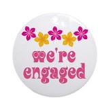 Tropical Engagement Announcement Ornament (Round)