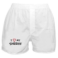I Love Sheriff Boxer Shorts