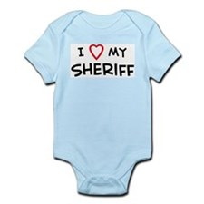 I Love Sheriff Infant Creeper