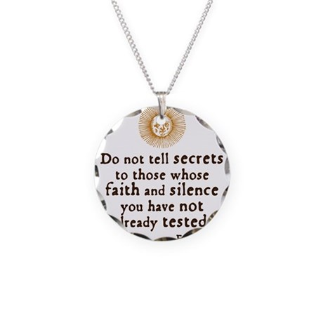 Elizabeth Trust Quote Necklace Circle Charm