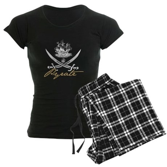 Elizabethan Pyrate Insignia Women's Dark Pajamas
