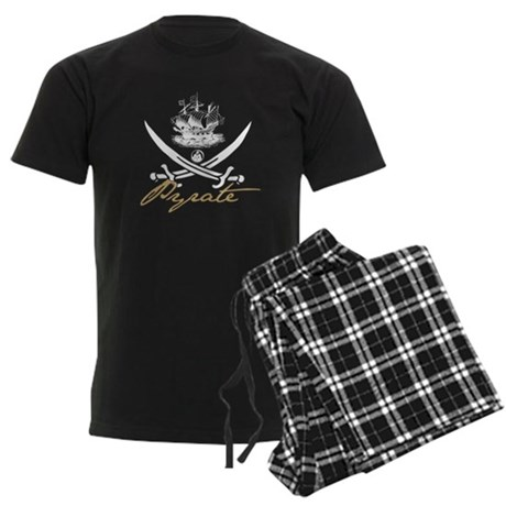 Elizabethan Pyrate Insignia Men's Dark Pajamas