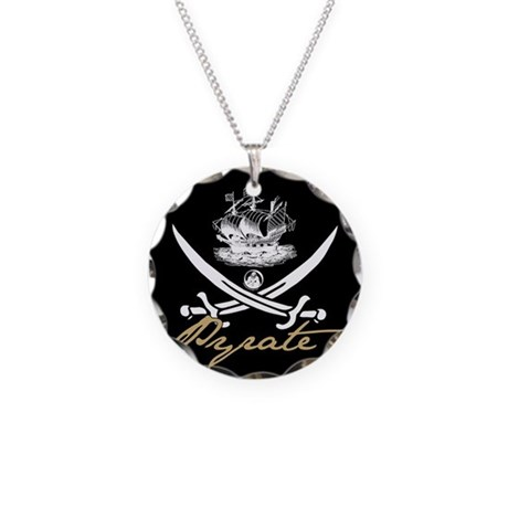 Elizabethan Pyrate Insignia Necklace Circle Charm