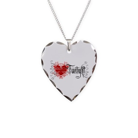 Twilight Movie Necklace Heart Charm