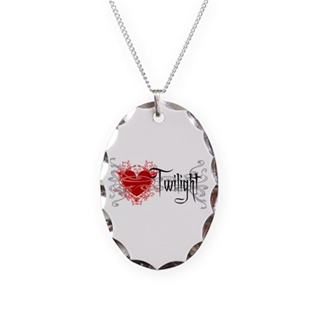 Twilight Movie Necklace Oval Charm