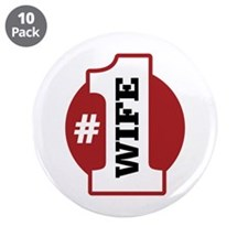 "#1 Wife 3.5"" Button (10 pack)"