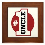 #1 Uncle Framed Tile