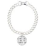 Strange Quote Charm Bracelet, One Charm