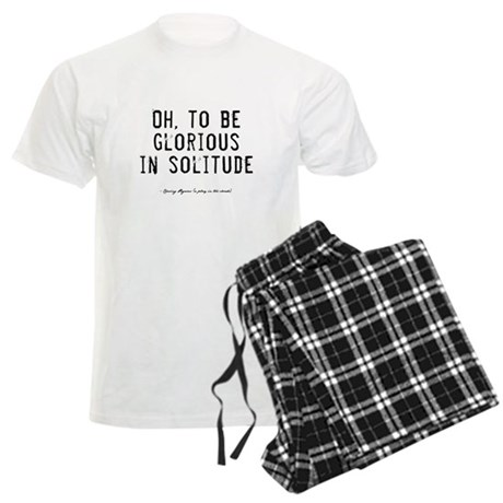 Solitude Quote Men's Light Pajamas