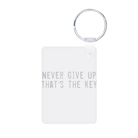 Give Up Quote Aluminum Photo Keychain