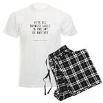 Souls Quote Men's Light Pajamas