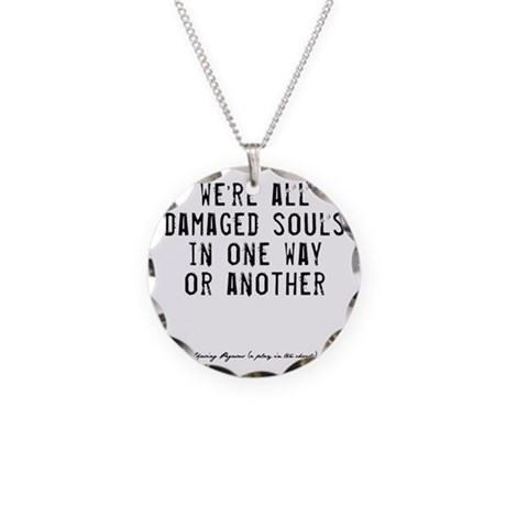Souls Quote Necklace Circle Charm