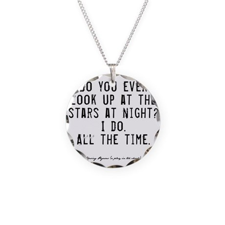 Stars Quote Necklace Circle Charm