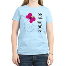 Bright Butterfly Third Grade T-Shirt