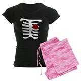 Valentine Skeleton with Heart pajamas
