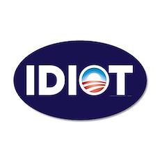 Obama Parody 22x14 Oval Wall Peel