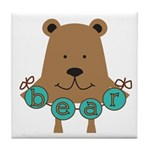 Cartoon Bear Tile Coaster
