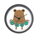 Cartoon Bear Wall Clock