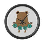 Cartoon Bear Large Wall Clock