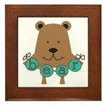 Cartoon Bear Framed Tile