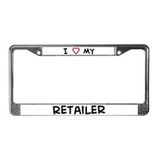 I Love Retailer License Plate Frame
