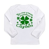 Custom Birthday for Cayden Long Sleeve Infant T-Sh