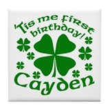 Custom Birthday for Cayden Tile Coaster