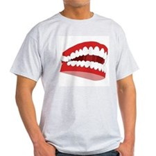 CHATTERING TEETH Ash Grey T-Shirt