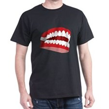 CHATTERING TEETH Black T-Shirt