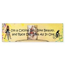 Cycling Race Diva (bumper 50 Pk) Bumper Bumper Sticker