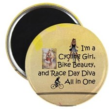 "Cycling Race Diva 2.25"" Magnet (10 Pack) Magn"