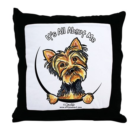 Yorkie IAAM Throw Pillow