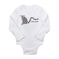 Ring-tailed Lemur Long Sleeve Infant Bodysuit