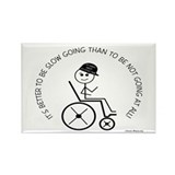 Slow Going Wheelchair 1 Rectangle Magnet (10 pack)