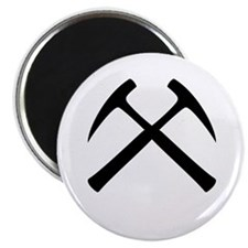 "Crossed Rock Hammers 2.25"" Magnet (100 pack)"