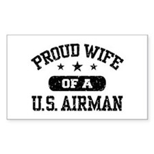 Proud Wife of a US Airman Decal