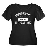 Proud Sister of a US Sailor Women's Plus Size Scoo
