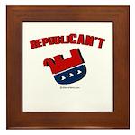 Republican't - Framed Tile