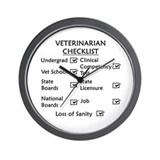 Veterinarian Checklist Wall Clock