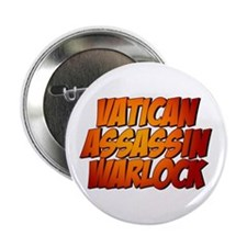 """Vatican Assassin Warlock 2.25"""" Button"""