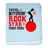 Rock Star from Mars baby blanket