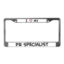 I Love PR Specialist License Plate Frame